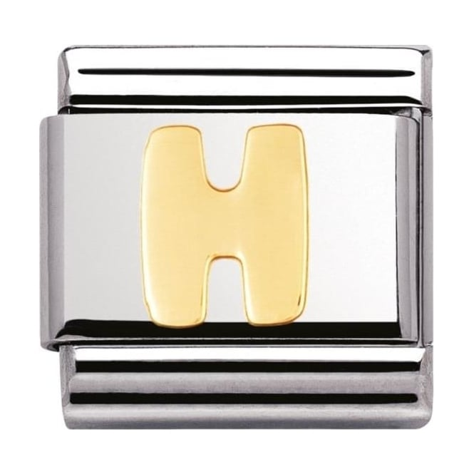 Nomination Classic Gold Letter H Charm - 03010108