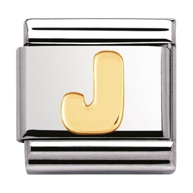 Nomination Classic Gold Letter J Charm - 03010110