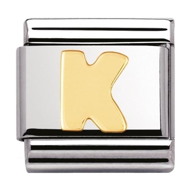 Nomination Classic Gold Letter K Charm - 03010111