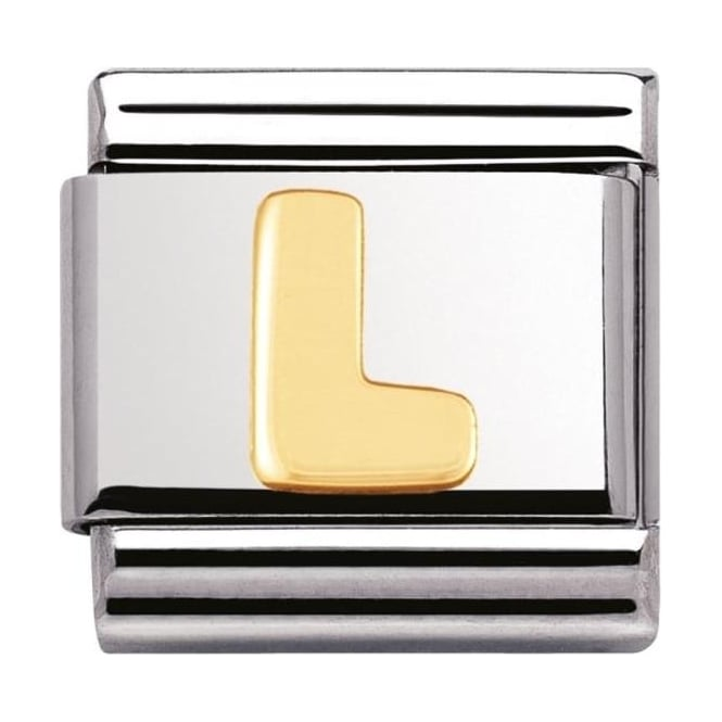 Nomination Classic Gold Letter L Charm - 03010112