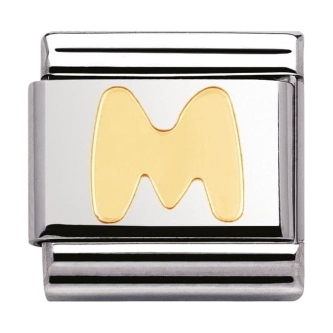 Nomination Classic Gold Letter M Charm - 03010113
