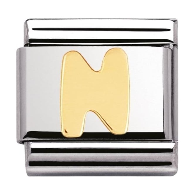 Nomination Classic Gold Letter N Charm - 03010114