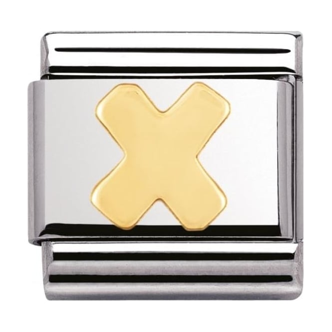 Nomination Classic Gold Letter X Charm - 03010124