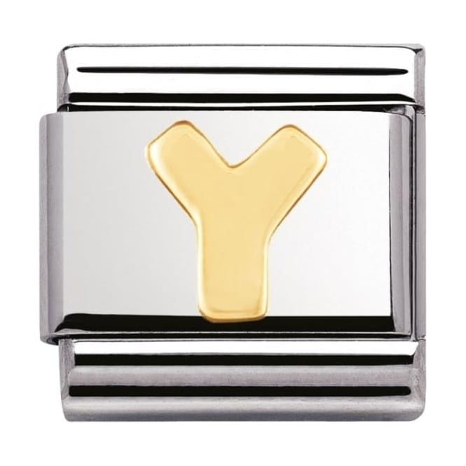 Nomination Classic Gold Letter Y Charm - 03010125