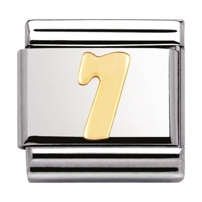 Nomination Classic Gold Number 7 Charm - 03010207