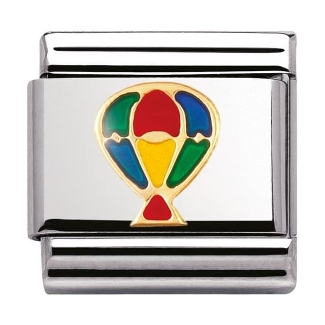 Nomination Classic Gold And Enamel Hot-Air Balloon Charm