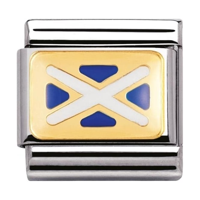 Nomination Classic Gold And Enamel Scotland Flag Charm