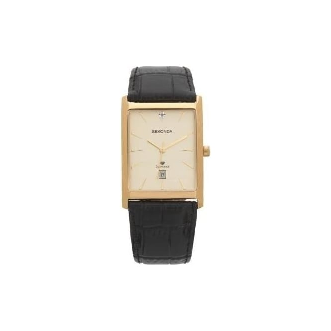 Sekonda Gents Gold Plated Diamond Set Watch