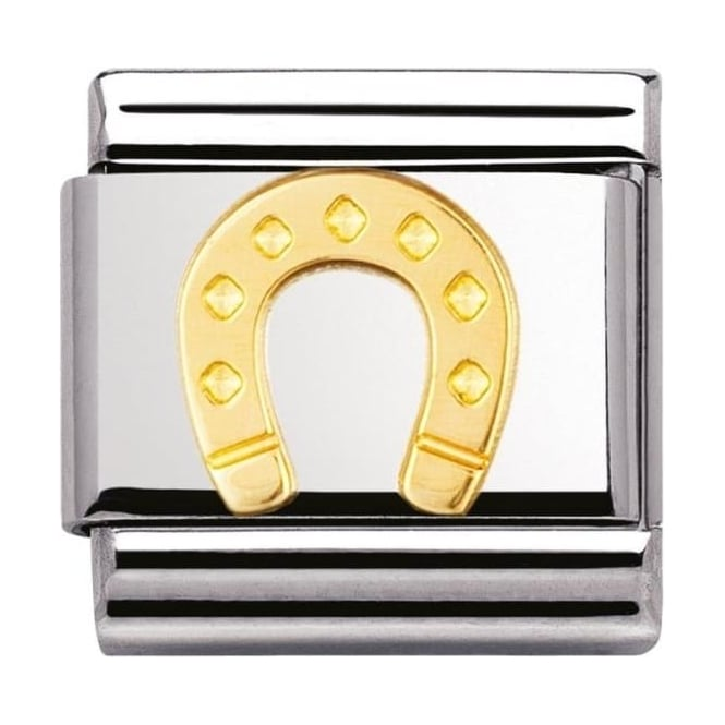 Nomination Classic Gold horseshoe Charm