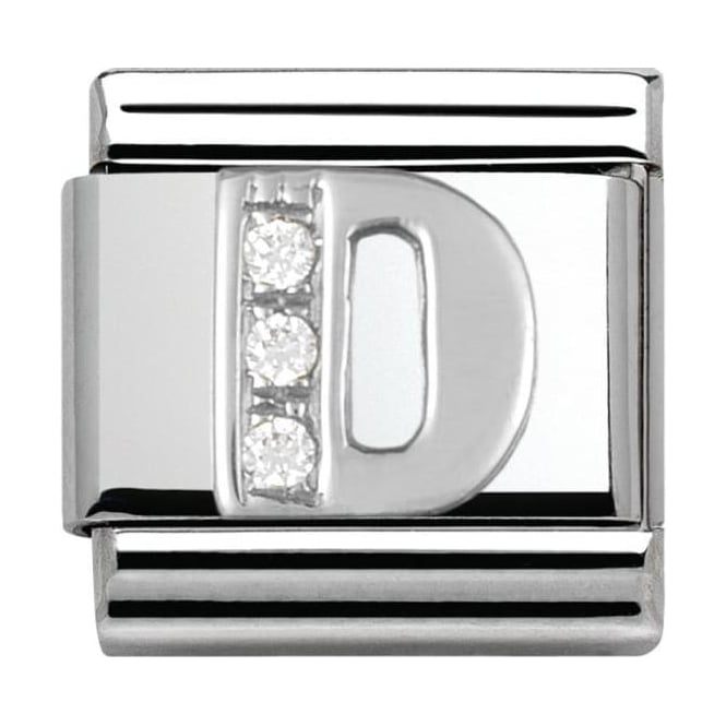 Nomination Classic Silver Letter D - Crystal