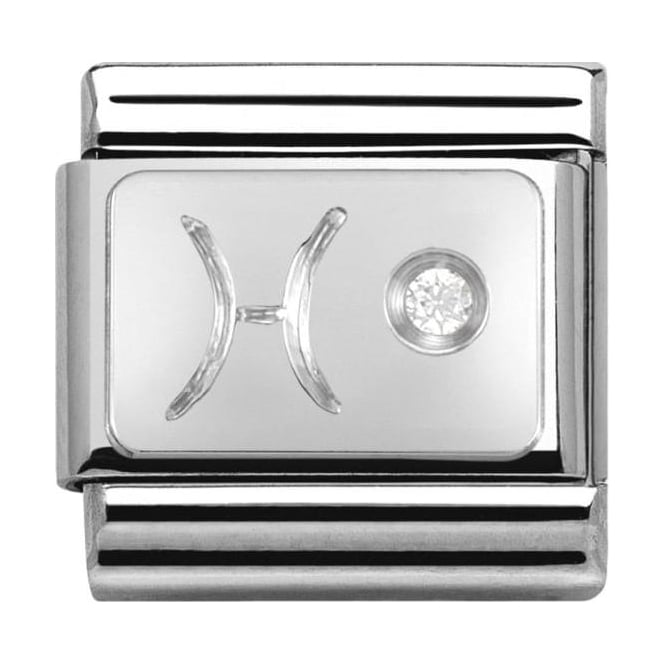 Nomination Classic Silver Zodiac Pisces - Crystal