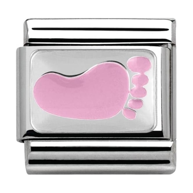 Nomination Classic Silver Daily Life Caiolapo Pink Footprint
