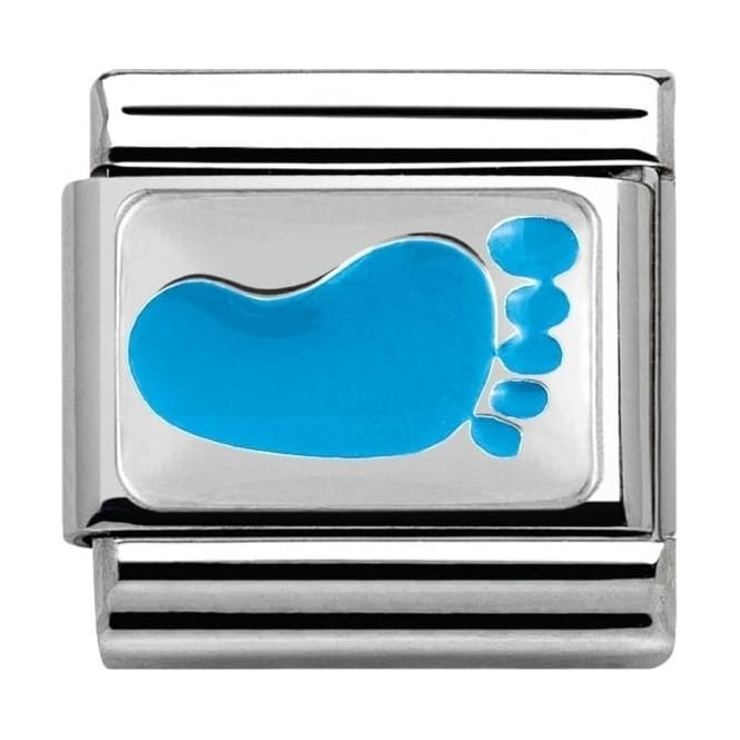 Nomination Classic Silver Daily Life Ciaolapo Blue Footprint