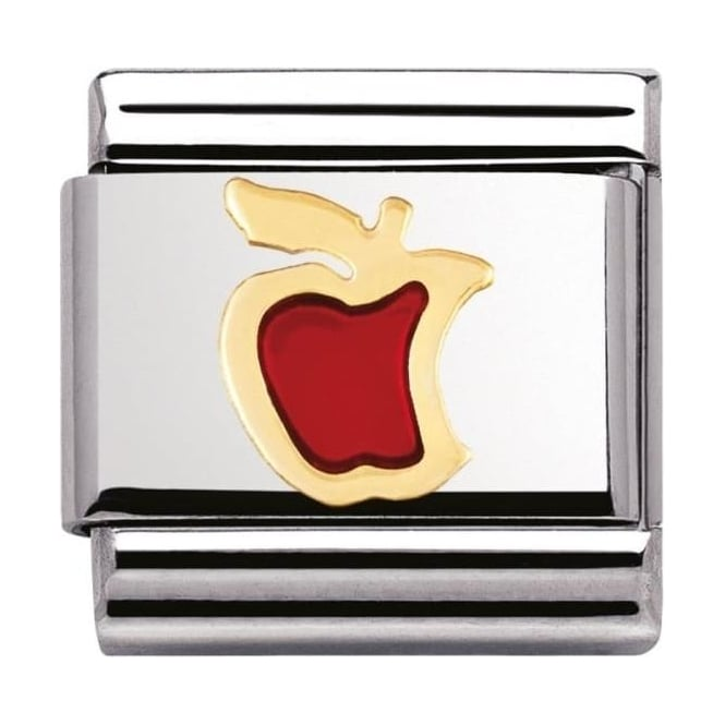 Nomination Classic Gold Red Apple Charm - 03021502