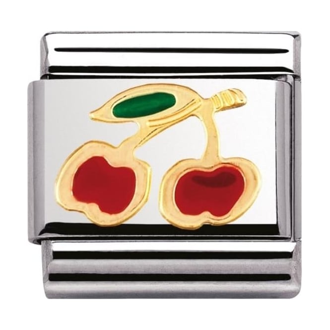 Nomination Classic Gold Cherry Charm - 03021505