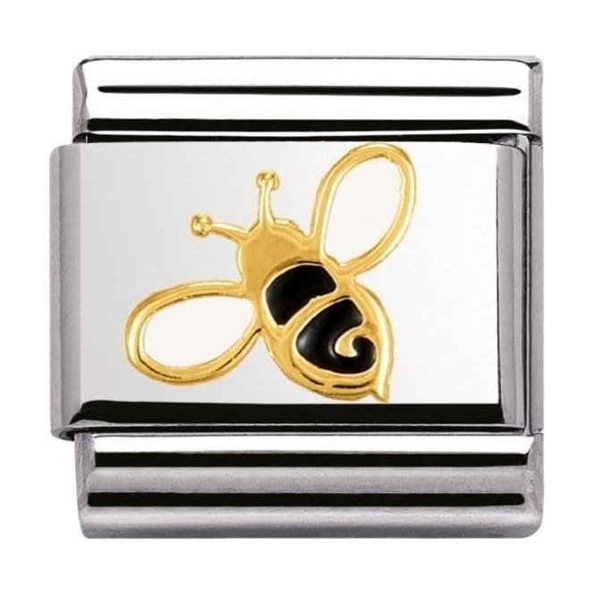 Nomination Classic Gold and Enamel Bee Charm