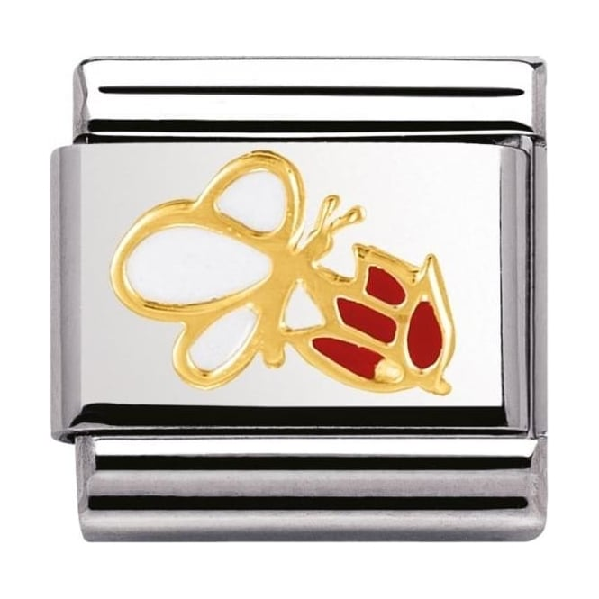 Nomination Classic Gold Butterfly Flower Charm - 03027804