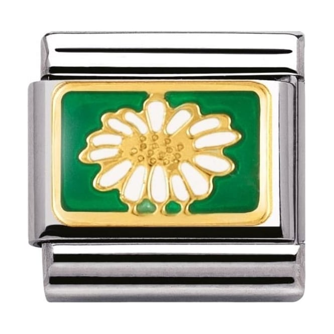 Nomination Classic Gold Daisy Charm - 03027808