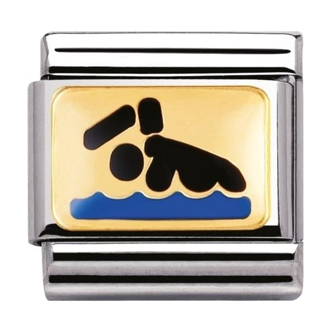 Nomination Classic Gold Swimmer Charm - 03020301
