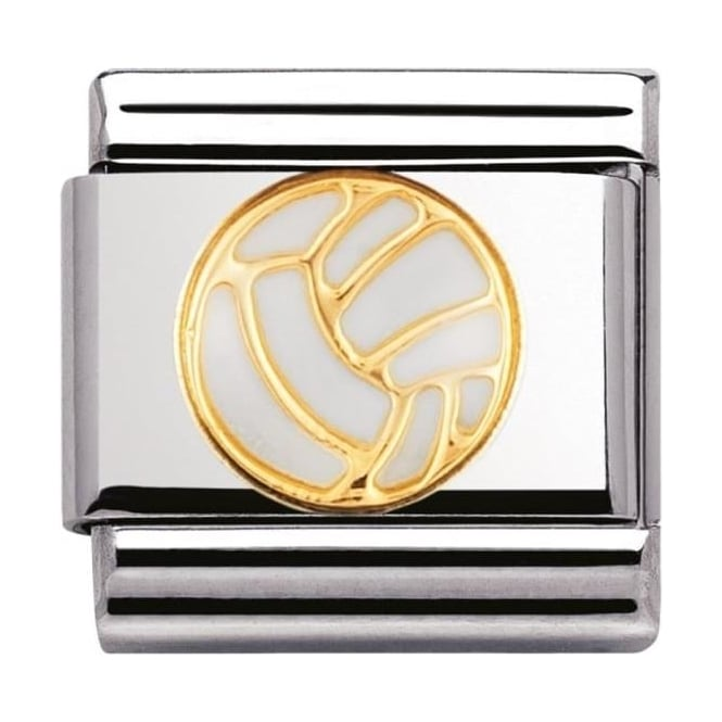 Nomination Classic Gold and Enamel Volleyball Charm