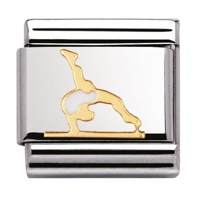 Nomination Classic Gold and Enamel Gymnastics Charm