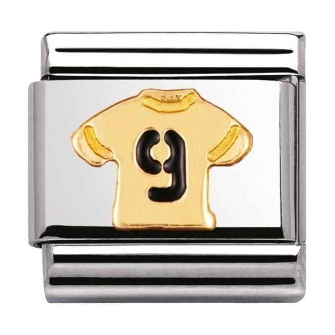 Nomination Classic Gold and Enamel  T-Shirt No. 9 Charm