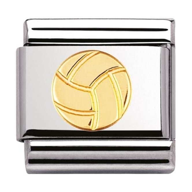 Nomination Classic Gold Volleyball Charm