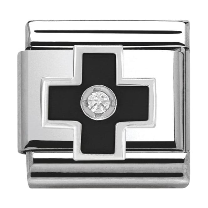 Nomination Classic Silver Daily Life Black Cross