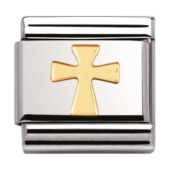Nomination Classic Gold Cross Charm - 03010501