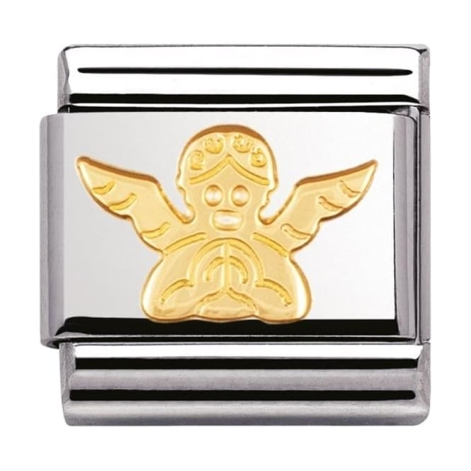 Nomination Classic Gold Angel Charm - 03010504