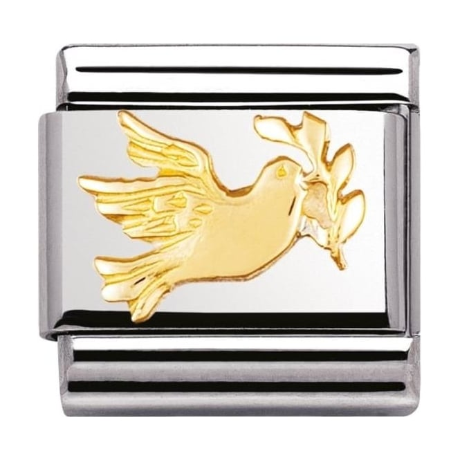 Nomination Classic Gold Dove With Olive Branch Charm