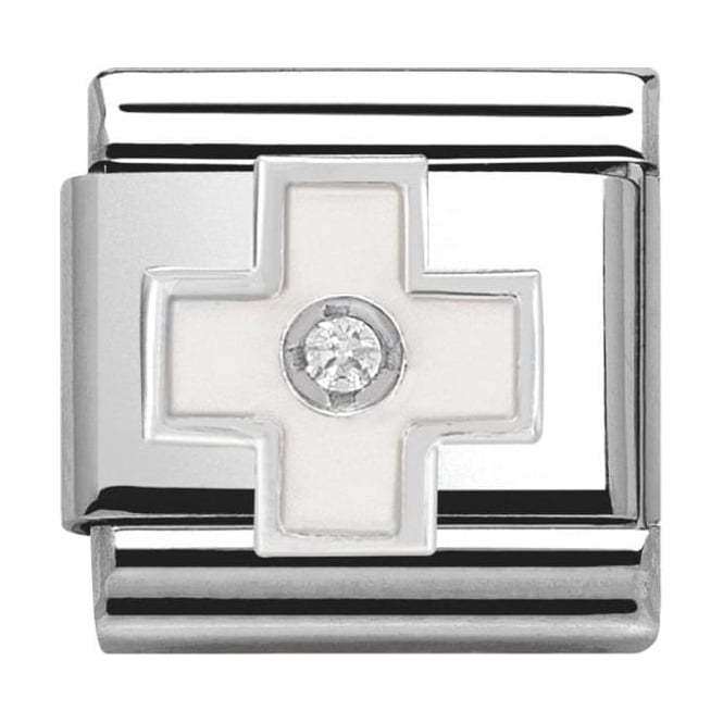 Nomination Classic Silver Daily Life White Cross