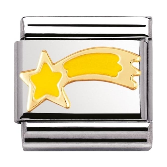Nomination Classic Gold Yellow Shooting Star Charm - 03022501