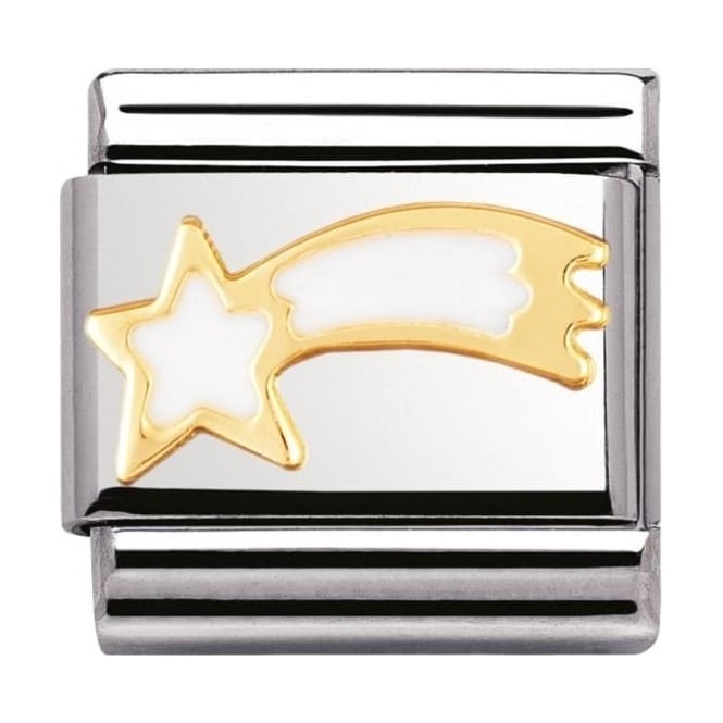 Nomination Classic Gold White Shooting Star Charm - 03022502