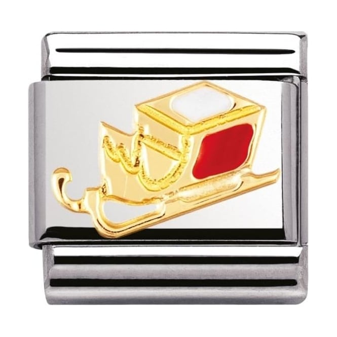 Nomination Classic gold and Enamel Sleigh Charm