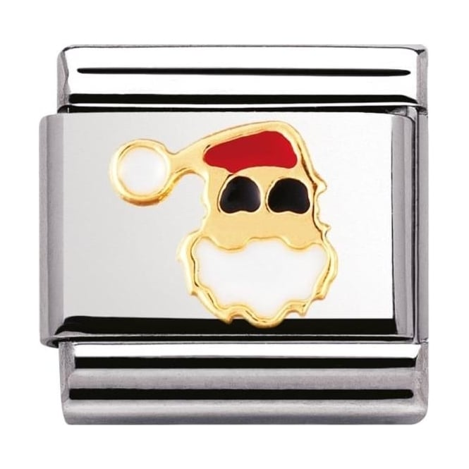 Nomination Classic Gold and Enamel Santa Claus Charm