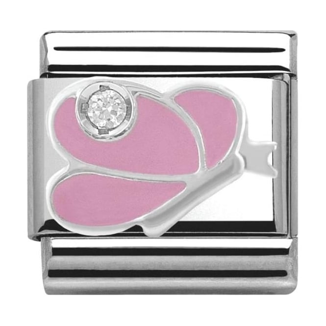Nomination Classic Silver Daily Life Pink Butterfly
