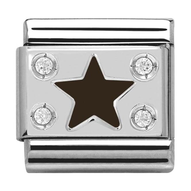 Nomination Classic Silver Daily Life Black Star