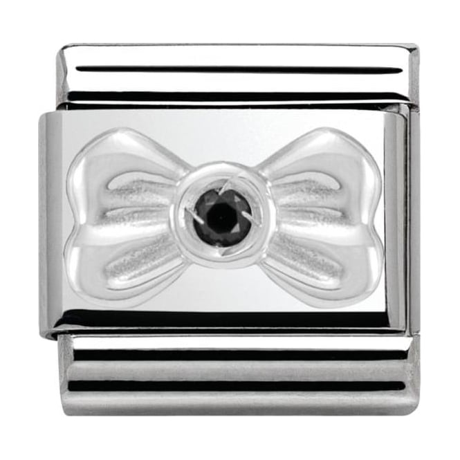 Nomination Classic Silver Daily Life Bow with Black CZ