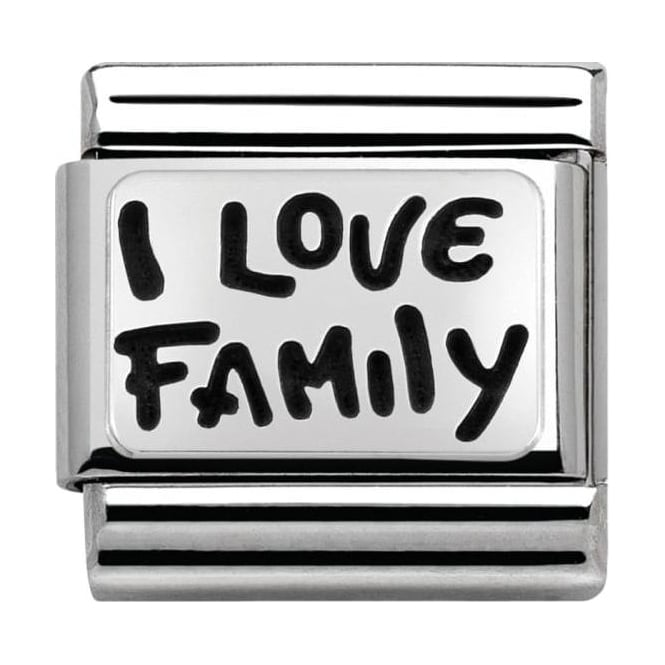 Nomination Classic Silver My-Family 'I Love Family'
