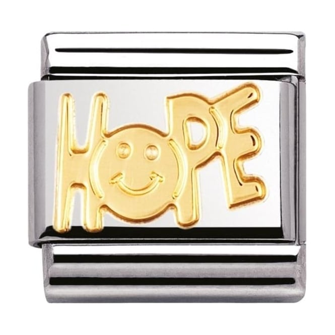 Nomination Classic Gold Hope Charm