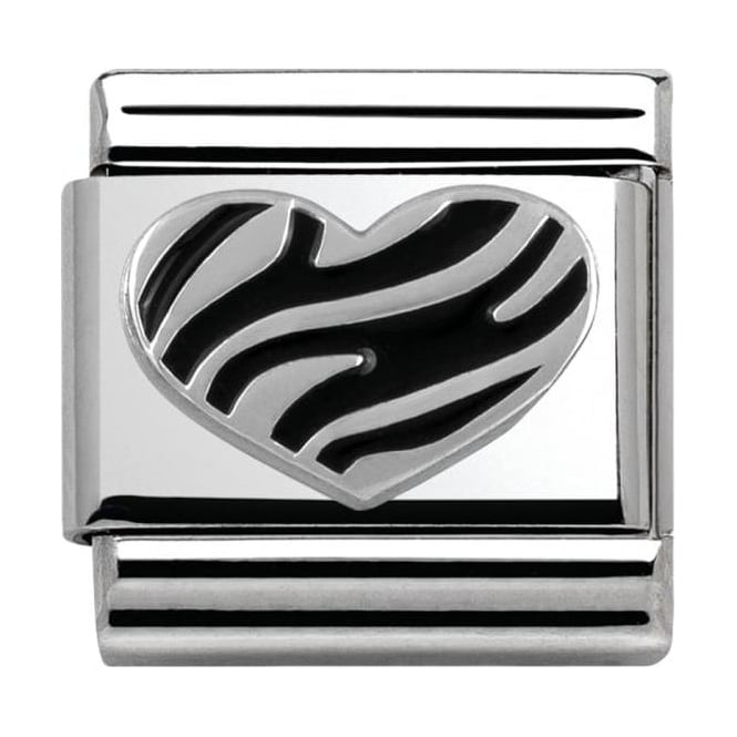 Nomination Sterling Silver Love Collection Striped Heart
