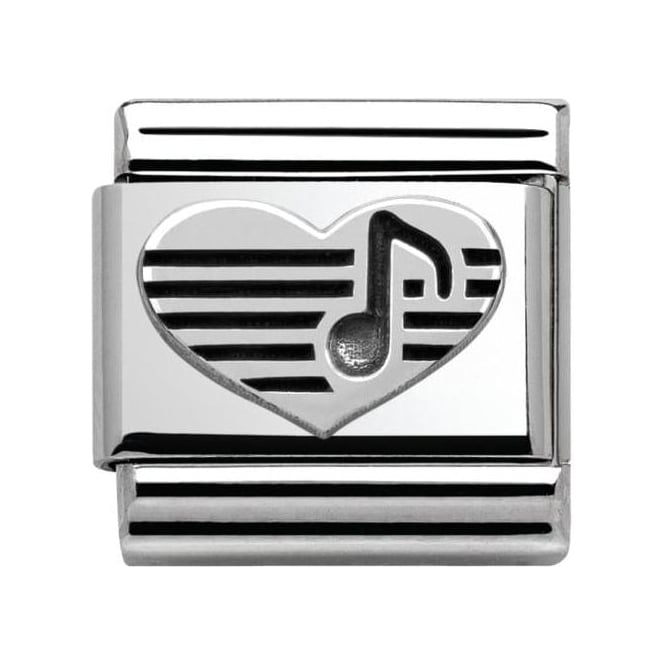 Nomination Sterling Silver Love Collection Heart With Musical Note