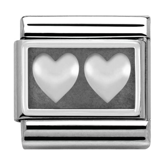 Nomination Sterling Silver Love Collection Double Heart