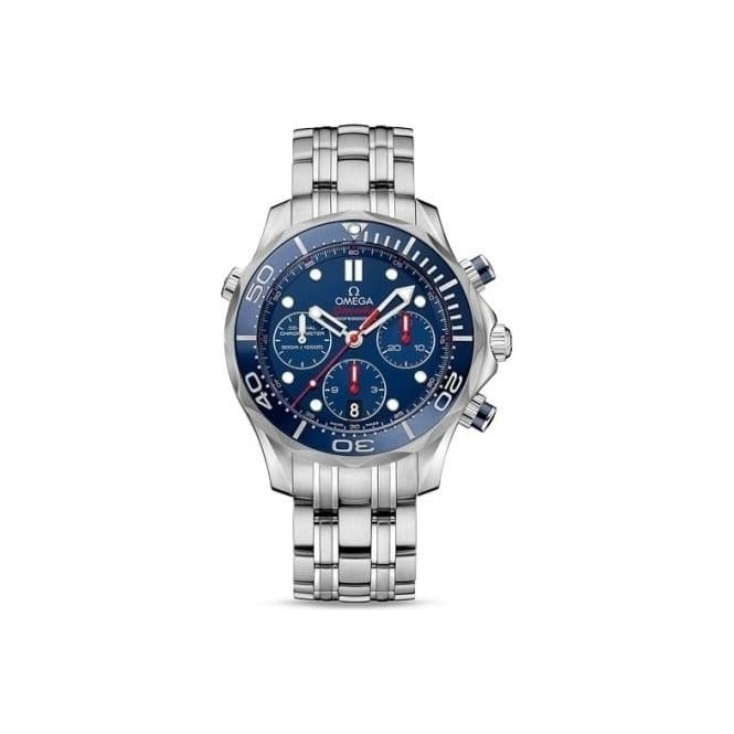 Omega Mens Seamaster Co-Axial Chronograph Watch 212.30.44.50.03.001