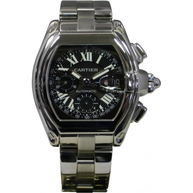 Pre-Owned Cartier Men's Stainless Steel Roadster Chronograph Watch