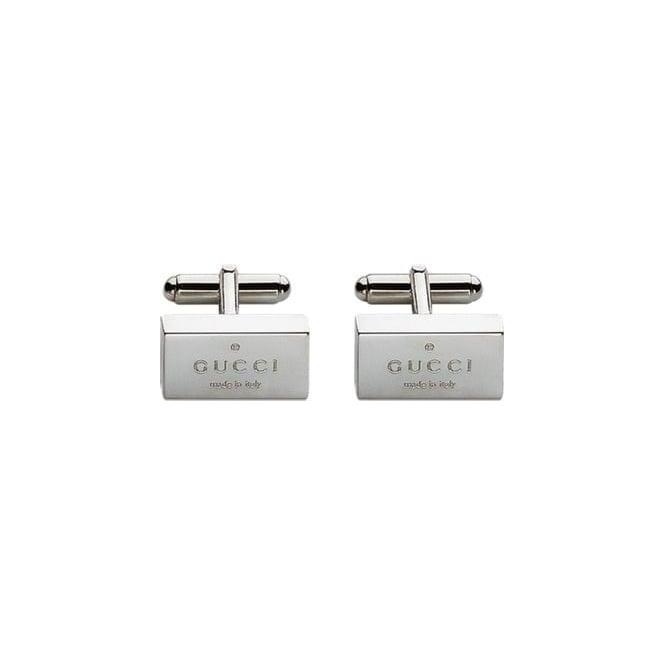 200de45ad Gucci Gents Silver Trademark Cufflinks YBE011099001 | Market Cross ...