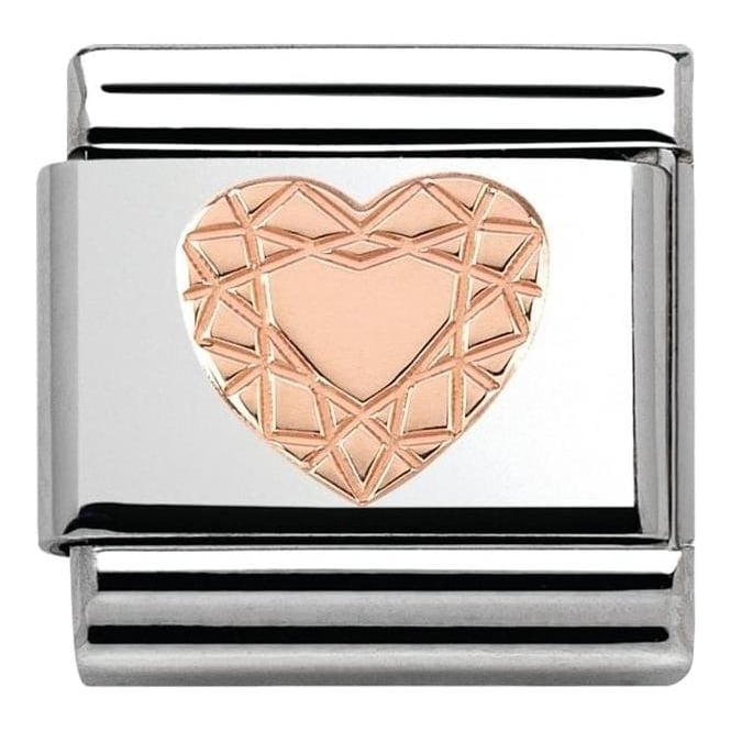 Nomination Couture Rose Gold Heart Cut Classic Charm