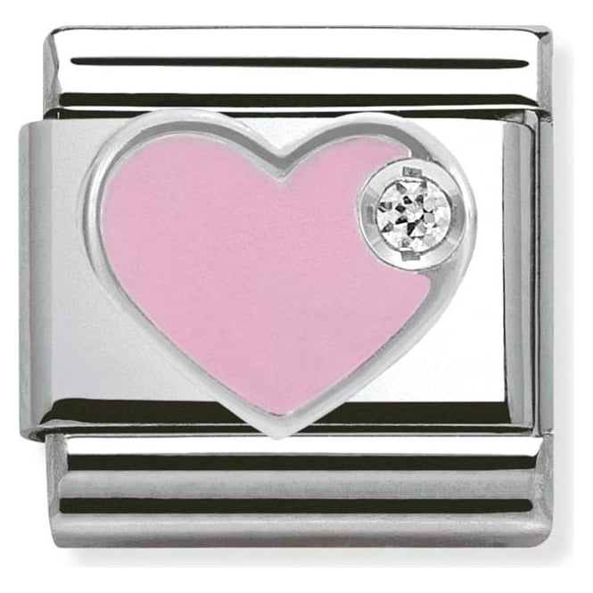 Nomination Silver and Enamel Heart Charm