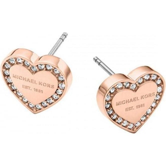 Rose Gold Heritage Heart Earrings